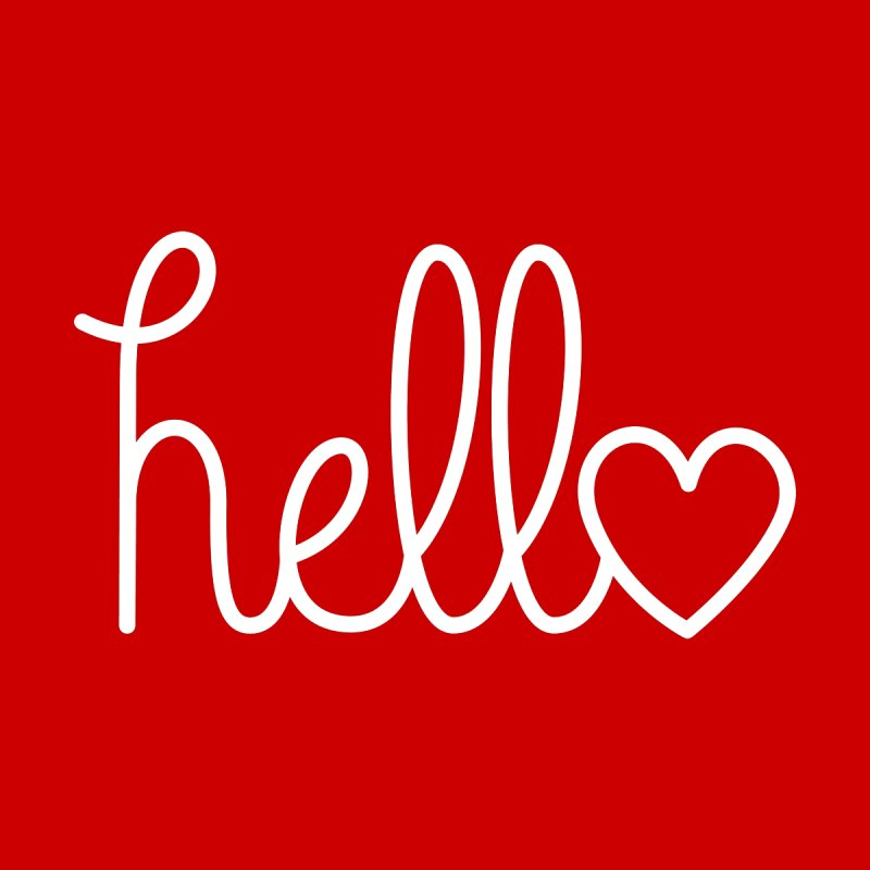 Hello, love Women's Scoop Neck by Illustrations by Phil