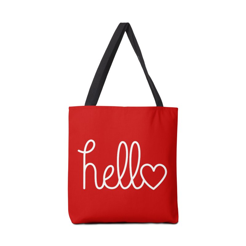 Hello, love Accessories Bag by Illustrations by Phil