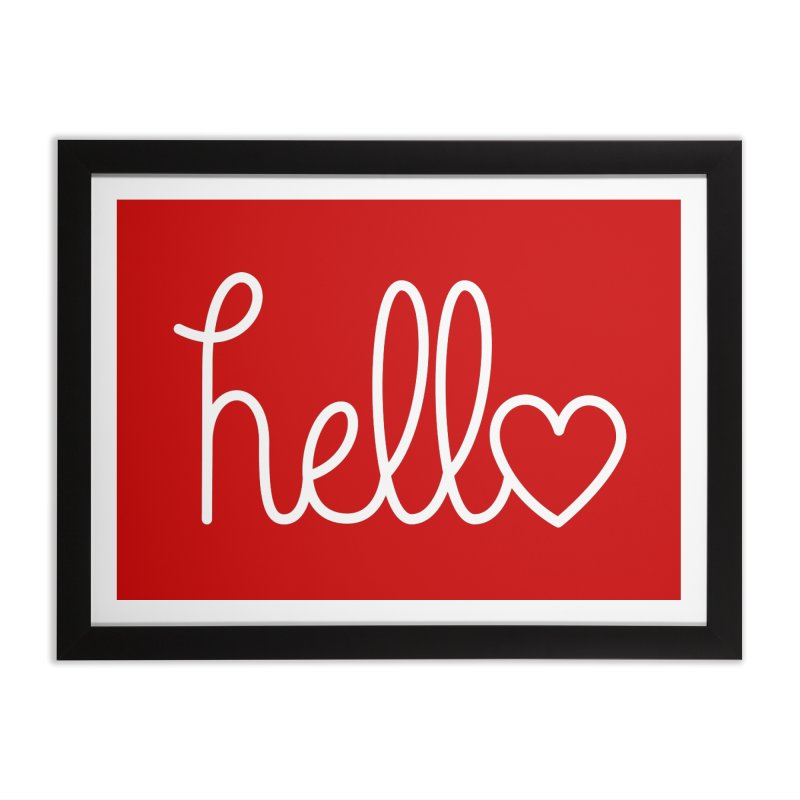 Hello, love Home Framed Fine Art Print by Illustrations by Phil