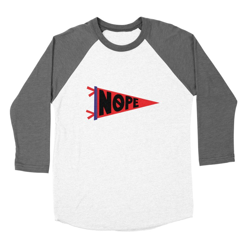 NOPE Women's Longsleeve T-Shirt by Illustrations by Phil