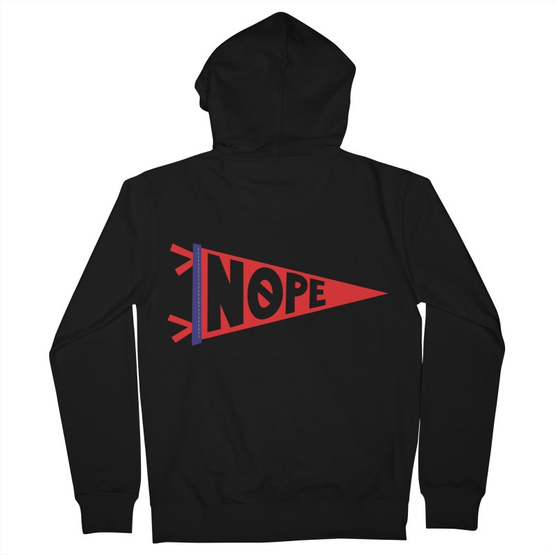 NOPE Men's French Terry Zip-Up Hoody by Illustrations by Phil