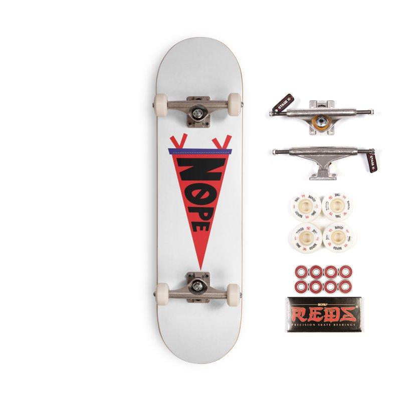 NOPE Accessories Complete - Pro Skateboard by Illustrations by Phil