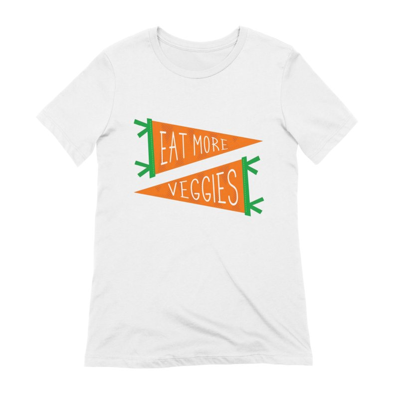 Eat more veggies Women's Extra Soft T-Shirt by Illustrations by Phil