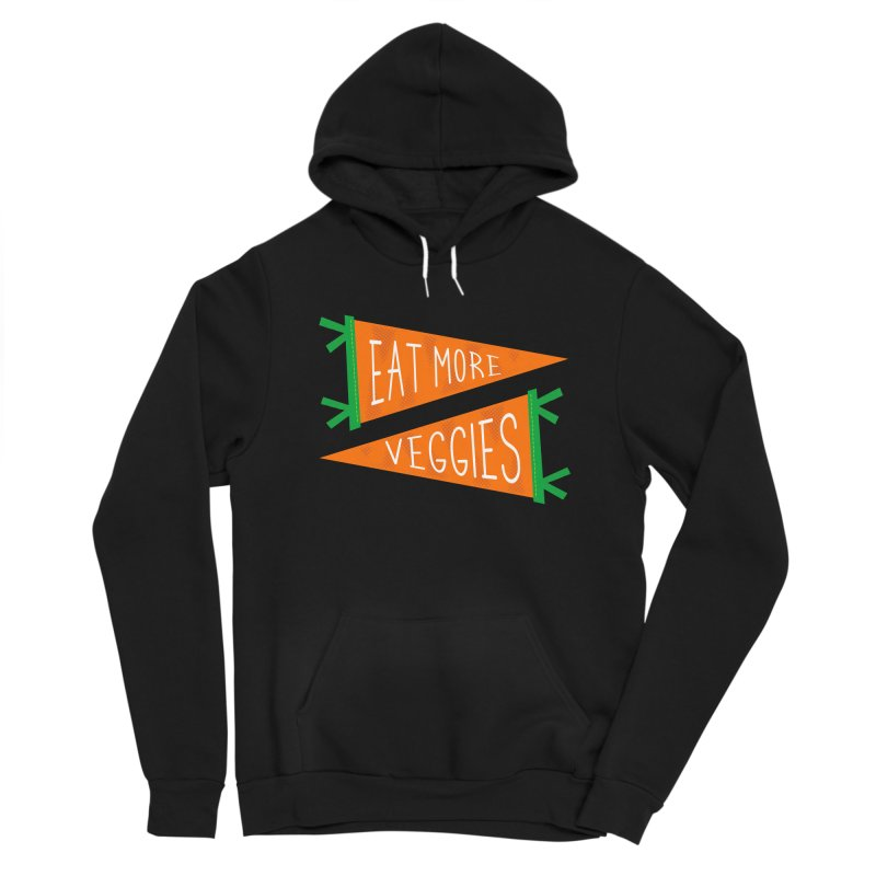 Eat more veggies Men's Sponge Fleece Pullover Hoody by Illustrations by Phil