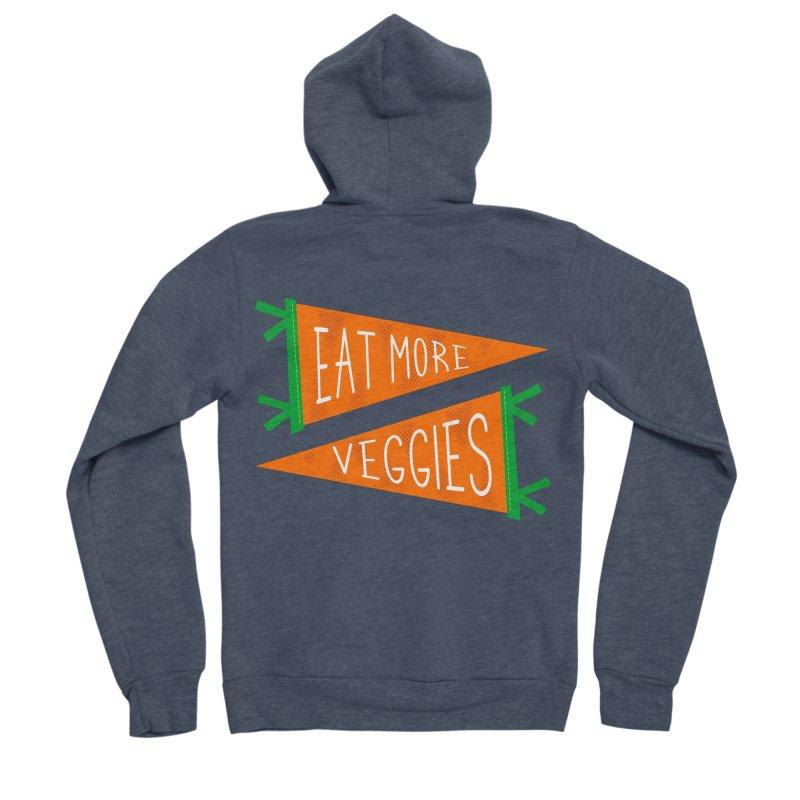 Eat more veggies Men's Sponge Fleece Zip-Up Hoody by Illustrations by Phil