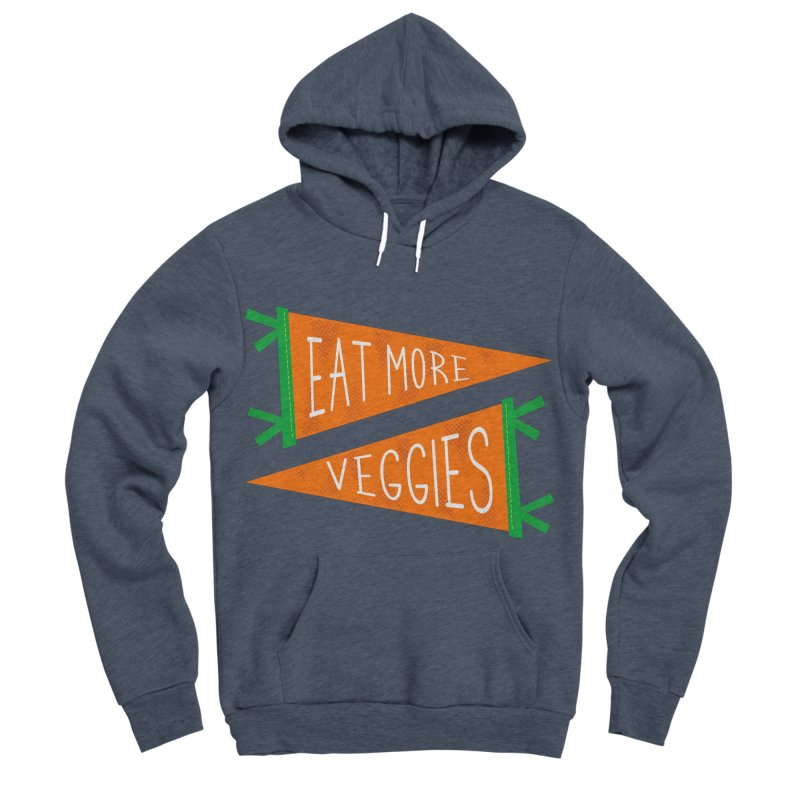 Eat more veggies Men's Sponge Fleece Pullover Hoody by Illustrations by Phil