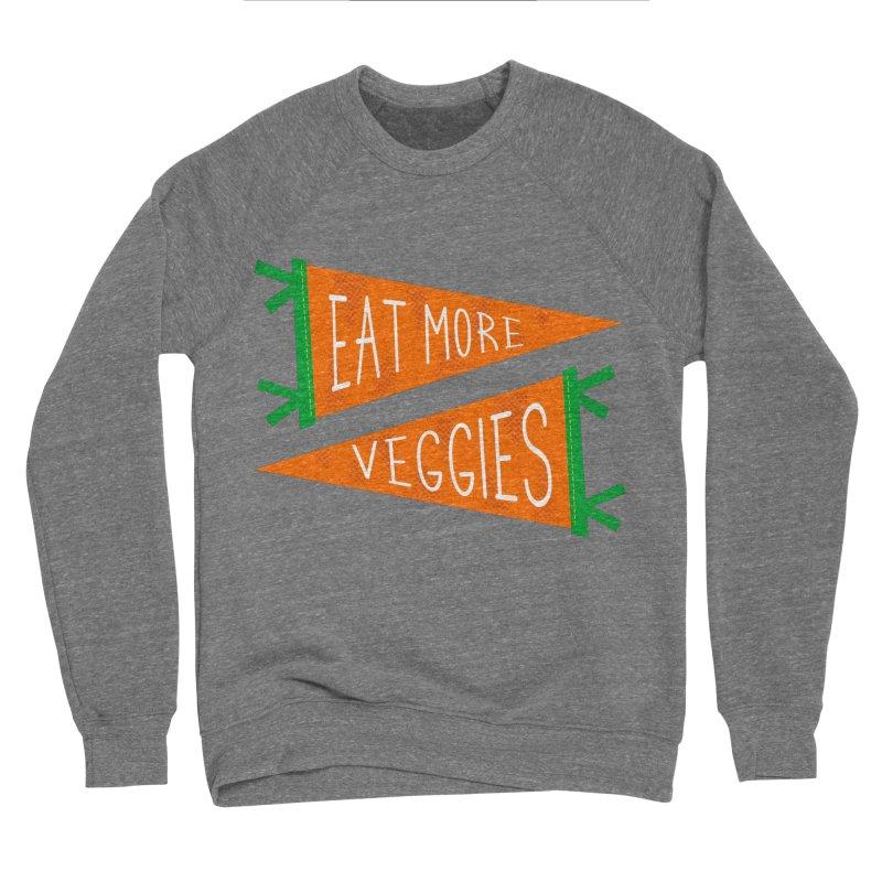 Eat more veggies Men's Sponge Fleece Sweatshirt by Illustrations by Phil