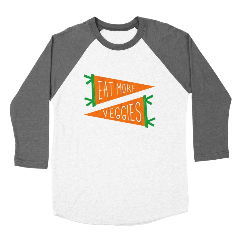 Eat more veggies Women's Longsleeve T-Shirt by Illustrations by Phil