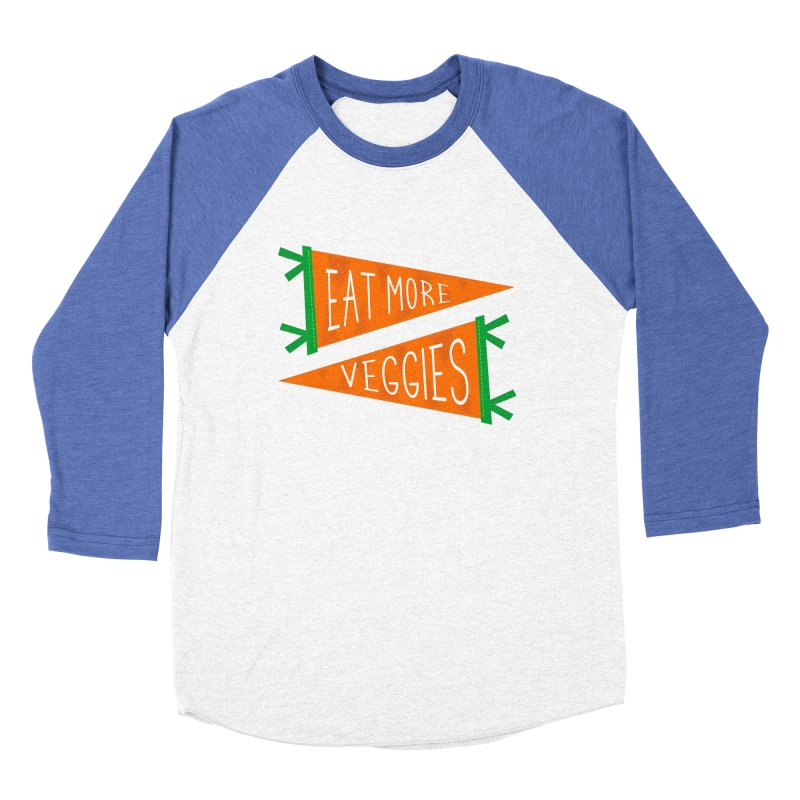 Eat more veggies Men's Baseball Triblend Longsleeve T-Shirt by Illustrations by Phil