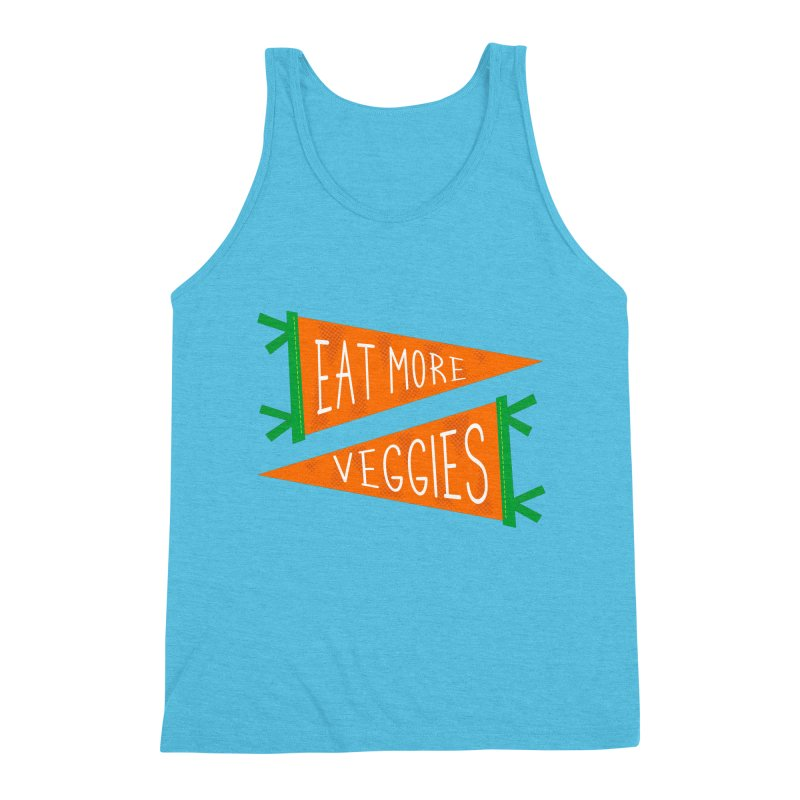 Eat more veggies Men's Triblend Tank by Illustrations by Phil