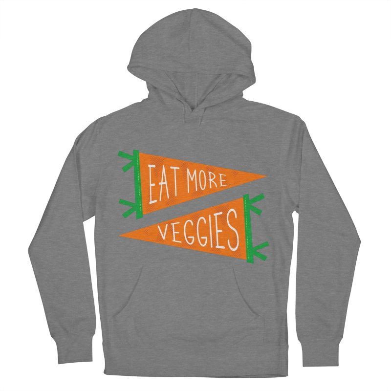 Eat more veggies Men's French Terry Pullover Hoody by Illustrations by Phil