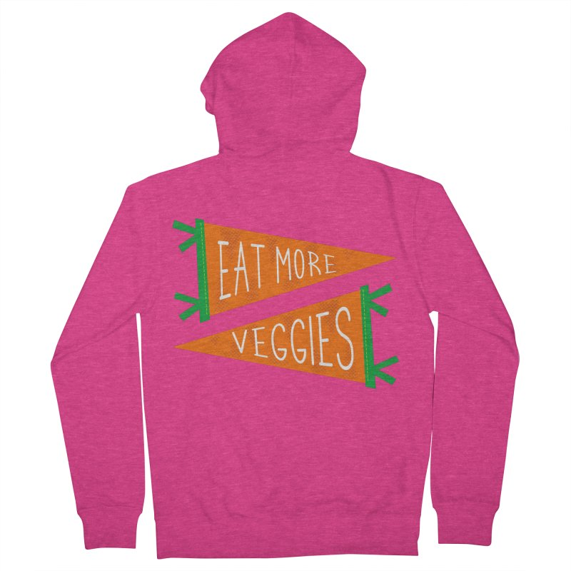 Eat more veggies Women's French Terry Zip-Up Hoody by Illustrations by Phil
