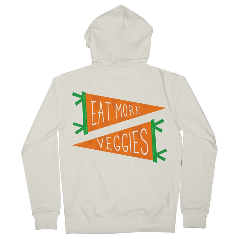 Eat more veggies Men's French Terry Zip-Up Hoody by Illustrations by Phil