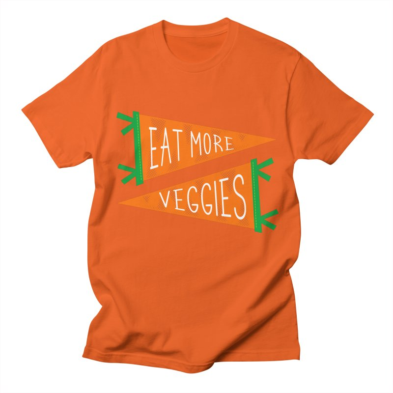 Eat more veggies Men's Regular T-Shirt by Illustrations by Phil