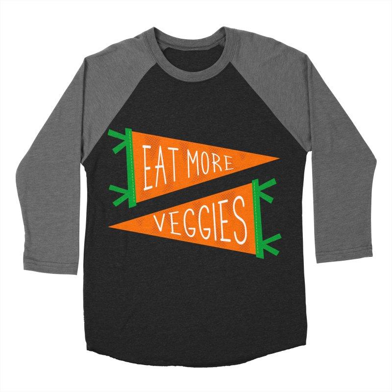 Eat more veggies Women's Baseball Triblend Longsleeve T-Shirt by Illustrations by Phil