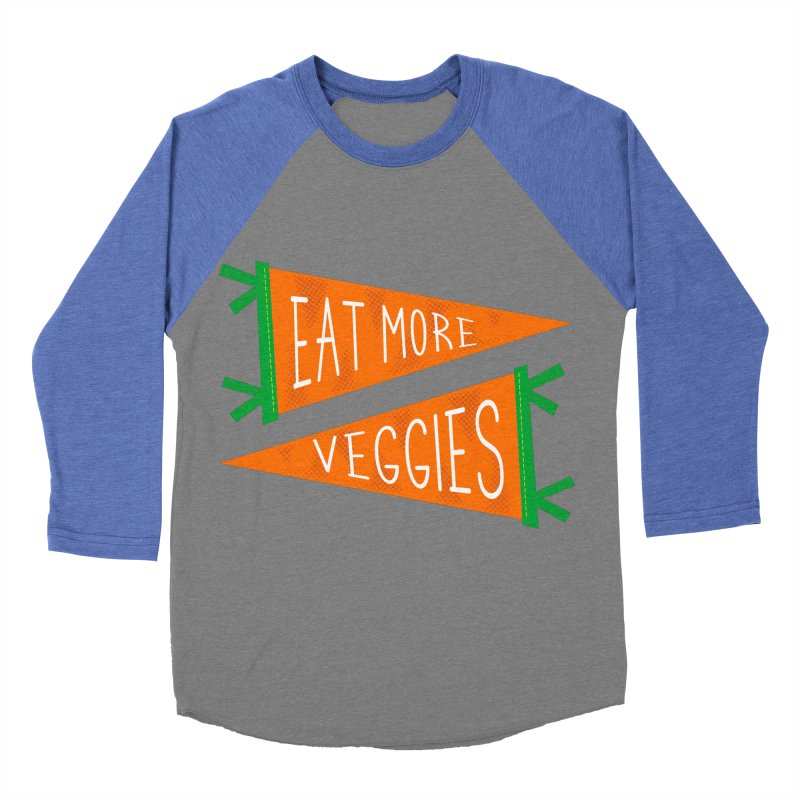 Eat more veggies Men's Baseball Triblend Longsleeve T-Shirt by Illustrations by Phil