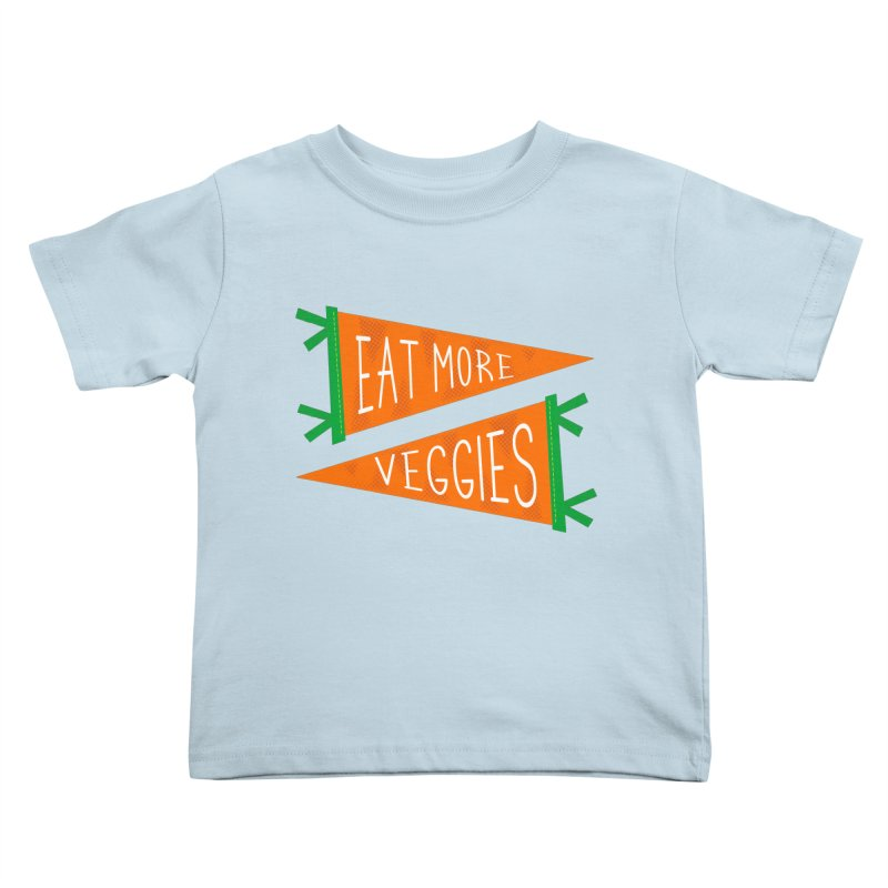 Eat more veggies Kids Toddler T-Shirt by Illustrations by Phil