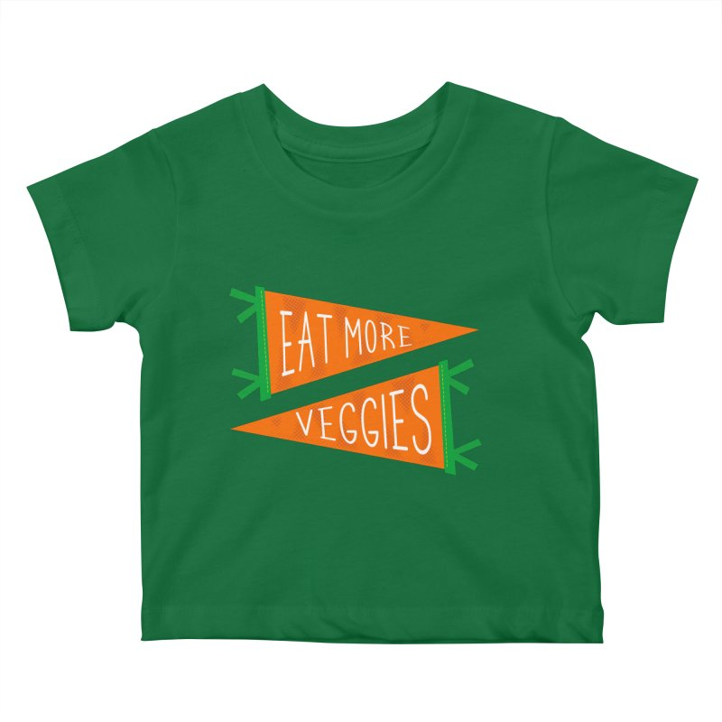 Eat more veggies Kids Baby T-Shirt by Illustrations by Phil