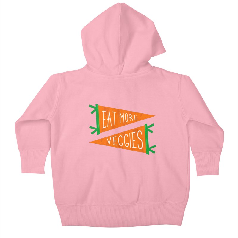 Eat more veggies Kids Baby Zip-Up Hoody by Illustrations by Phil
