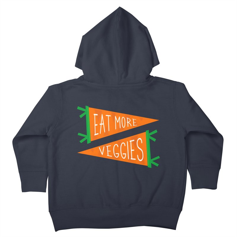 Eat more veggies Kids Toddler Zip-Up Hoody by Illustrations by Phil