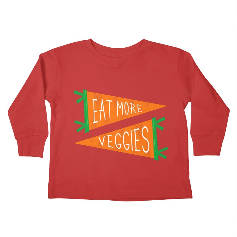 Eat more veggies Kids Toddler Longsleeve T-Shirt by Illustrations by Phil