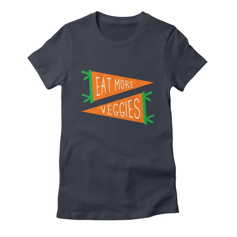 Eat more veggies Women's Fitted T-Shirt by Illustrations by Phil