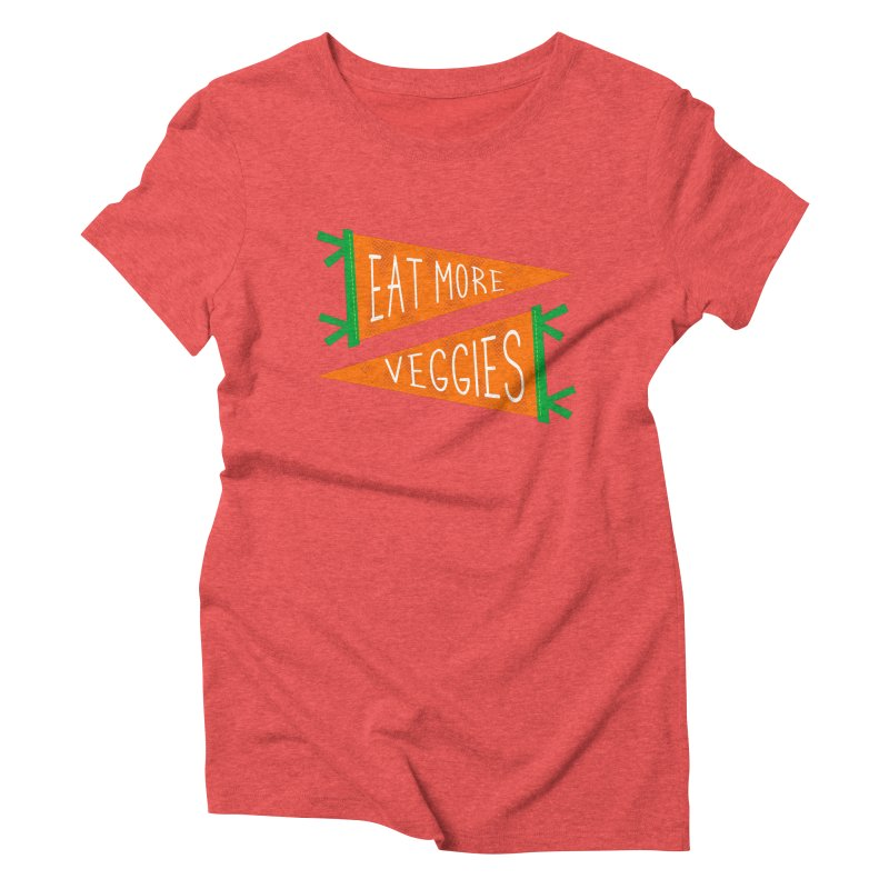 Eat more veggies Women's Triblend T-Shirt by Illustrations by Phil