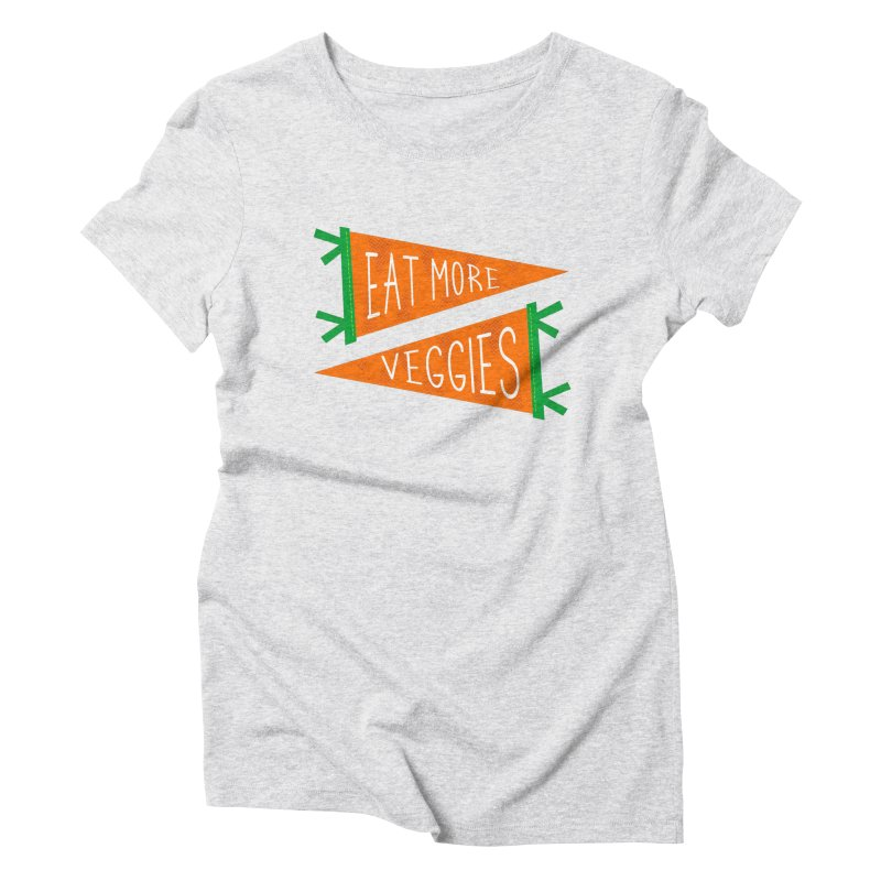 Eat more veggies Women's T-Shirt by Illustrations by Phil