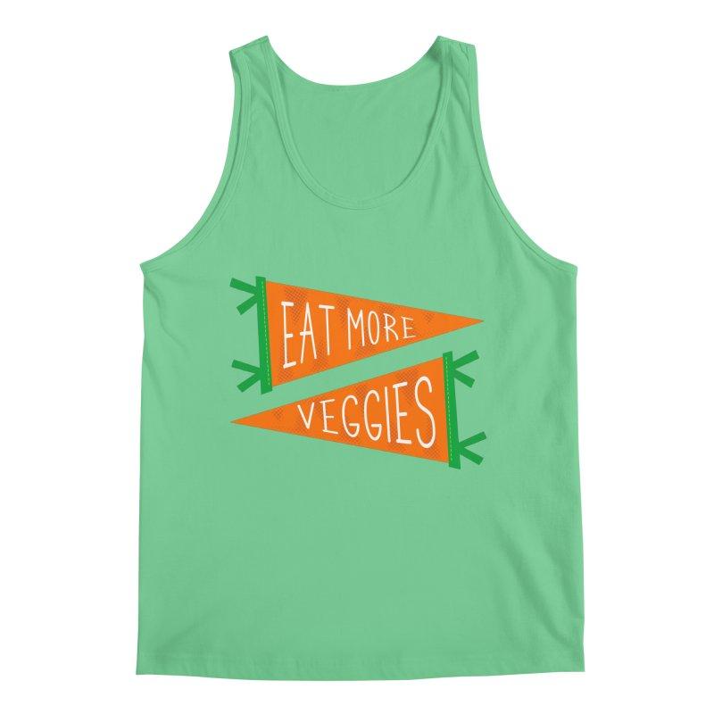 Eat more veggies Men's Regular Tank by Illustrations by Phil