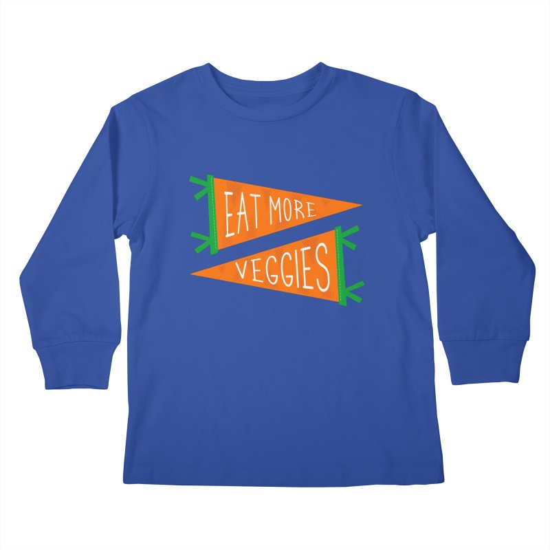 Eat more veggies Kids Longsleeve T-Shirt by Illustrations by Phil