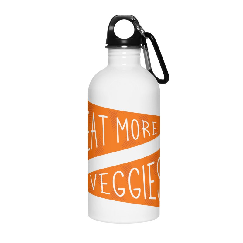 Eat more veggies Accessories Water Bottle by Illustrations by Phil