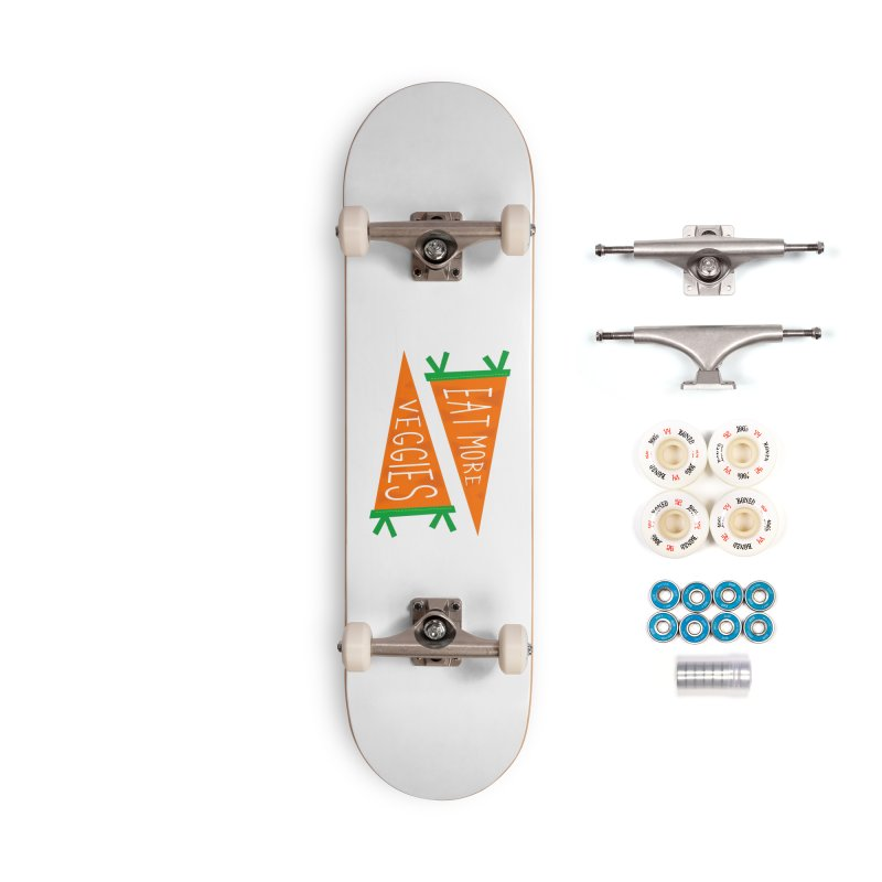 Eat more veggies Accessories Complete - Premium Skateboard by Illustrations by Phil