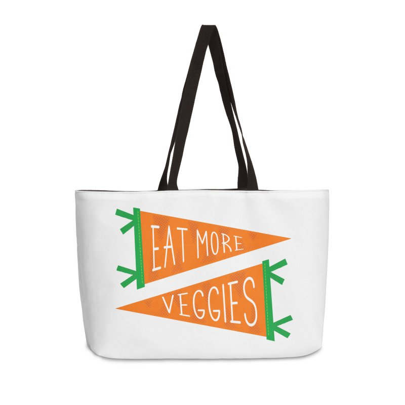 Eat more veggies Accessories Weekender Bag Bag by Illustrations by Phil