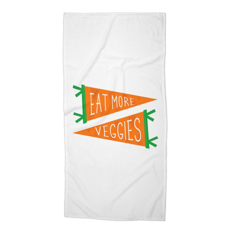 Eat more veggies Accessories Beach Towel by Illustrations by Phil