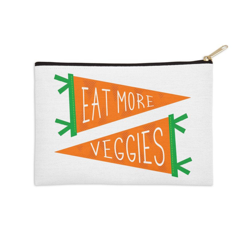 Eat more veggies Accessories Zip Pouch by Illustrations by Phil