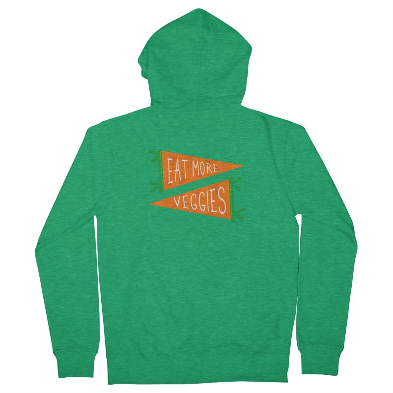 Eat more veggies Women's Zip-Up Hoody by Illustrations by Phil