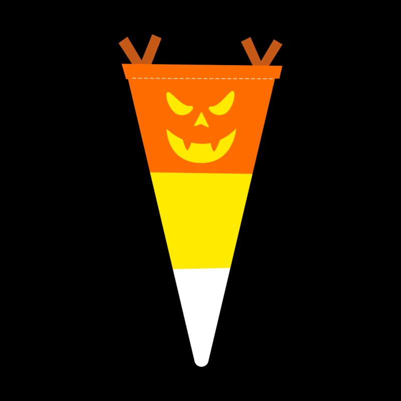 Candy Corn Pumpkin Accessories Sticker by Illustrations by Phil