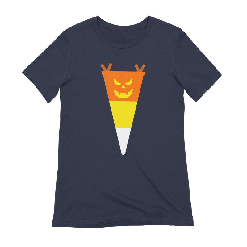 Candy Corn Pumpkin Women's Extra Soft T-Shirt by Illustrations by Phil