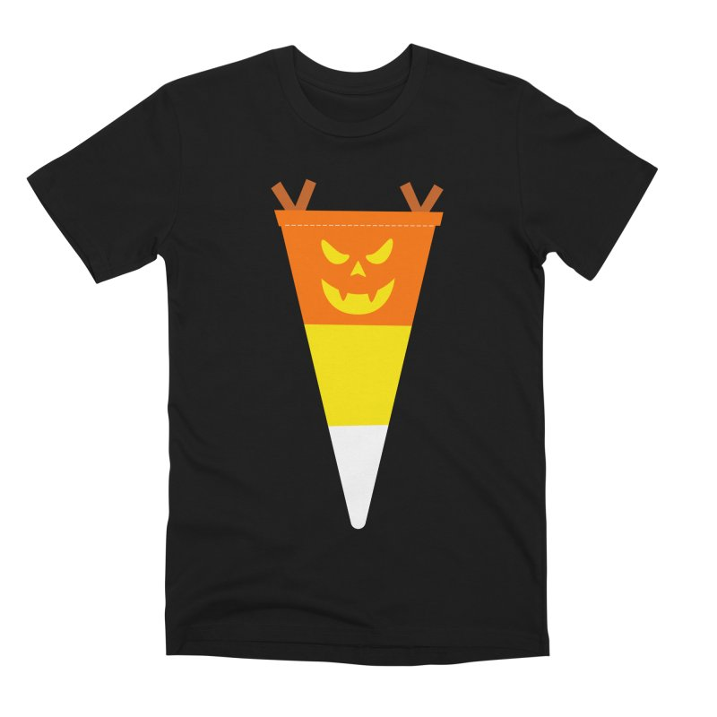 Candy Corn Pumpkin Men's Premium T-Shirt by Illustrations by Phil