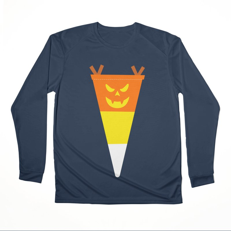 Candy Corn Pumpkin Men's Performance Longsleeve T-Shirt by Illustrations by Phil