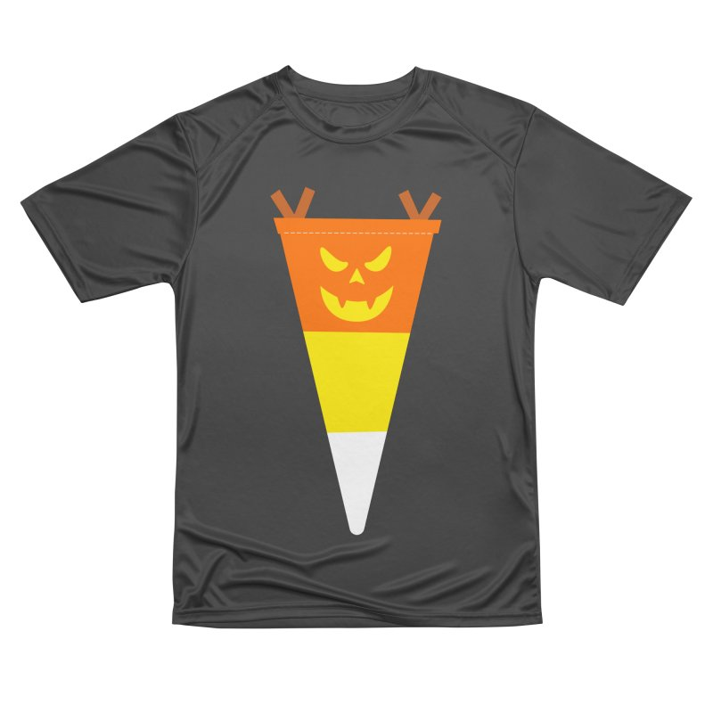 Candy Corn Pumpkin Women's Performance Unisex T-Shirt by Illustrations by Phil