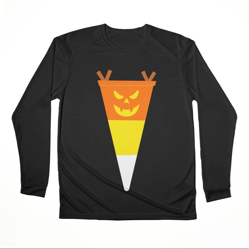 Candy Corn Pumpkin Men's Longsleeve T-Shirt by Illustrations by Phil