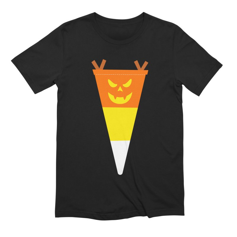 Candy Corn Pumpkin Men's Extra Soft T-Shirt by Illustrations by Phil
