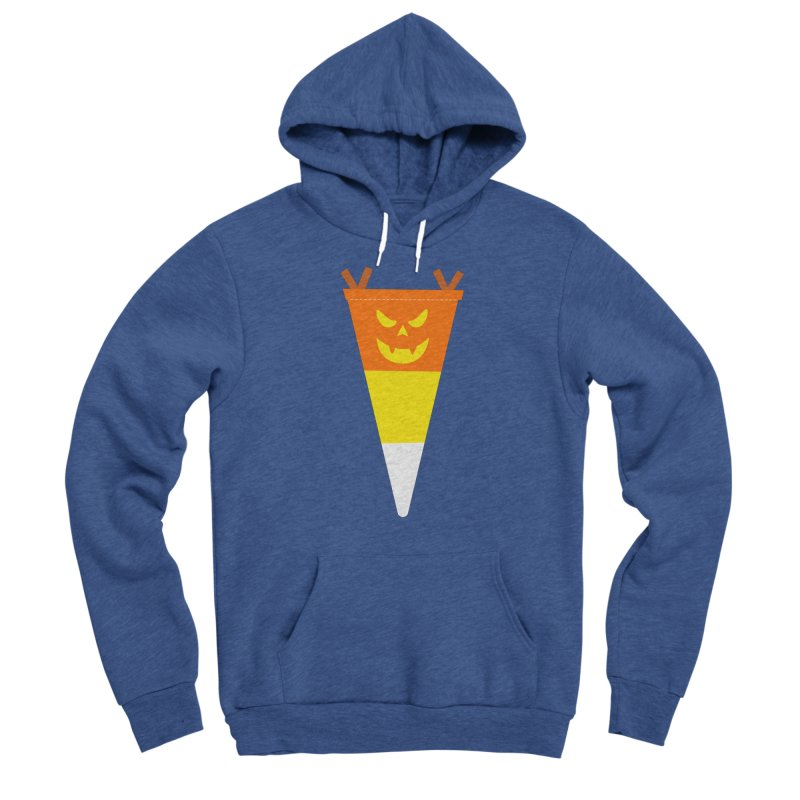 Candy Corn Pumpkin Men's Sponge Fleece Pullover Hoody by Illustrations by Phil