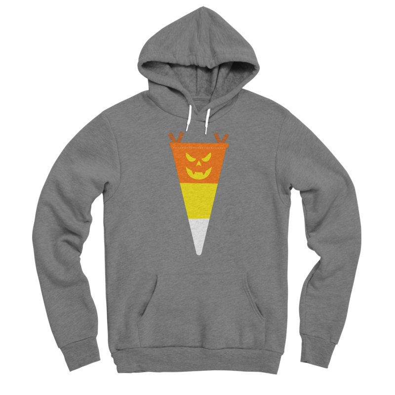 Candy Corn Pumpkin Men's Pullover Hoody by Illustrations by Phil