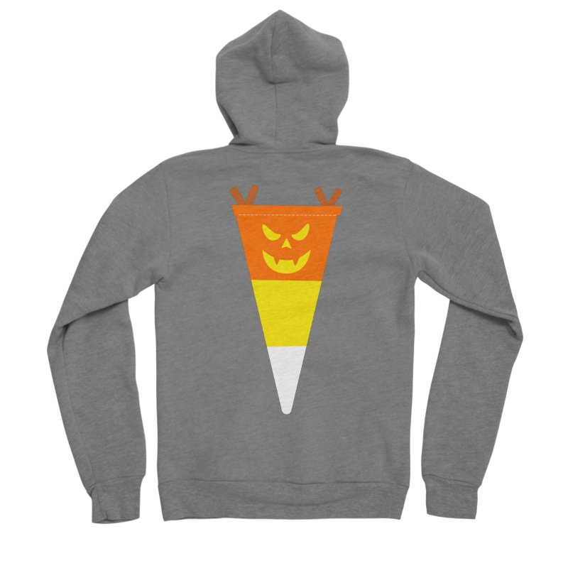 Candy Corn Pumpkin Women's Zip-Up Hoody by Illustrations by Phil