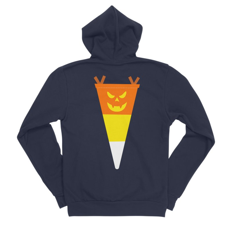 Candy Corn Pumpkin Men's Sponge Fleece Zip-Up Hoody by Illustrations by Phil