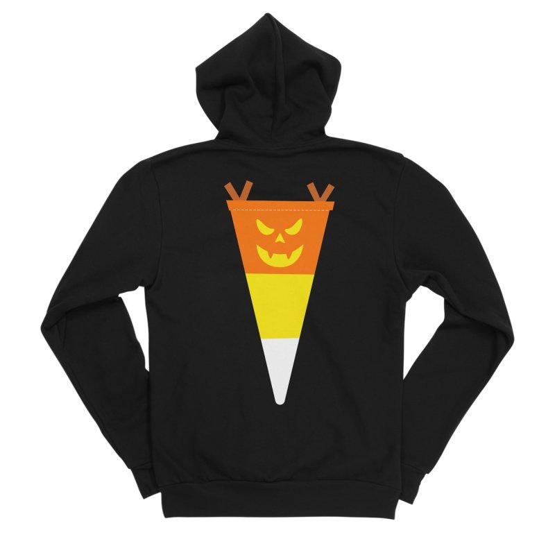 Candy Corn Pumpkin Men's Sponge Fleece Zip-Up Hoody by Illustrations by Phil
