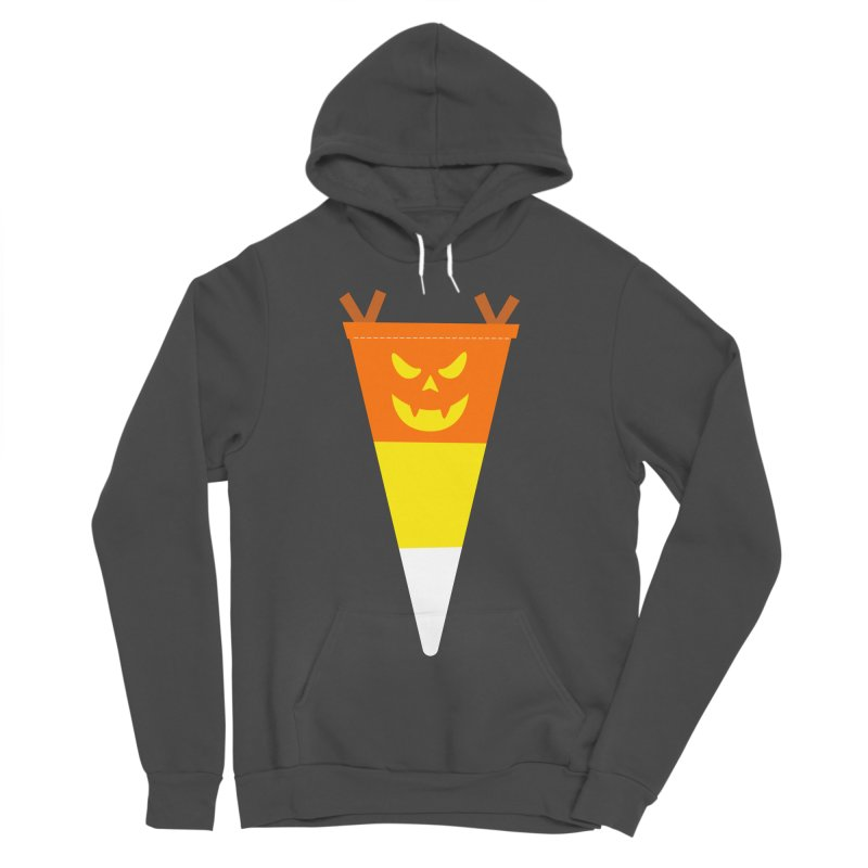 Candy Corn Pumpkin Women's Sponge Fleece Pullover Hoody by Illustrations by Phil