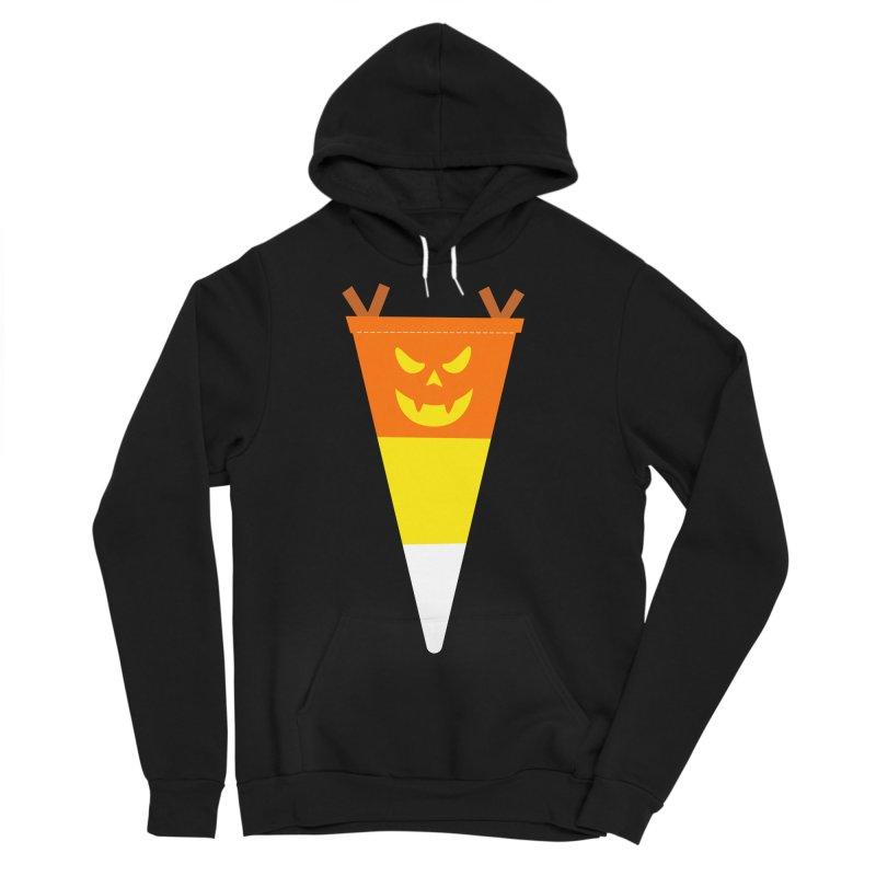 Candy Corn Pumpkin Men's Sponge Fleece Pullover Hoody by Illustrations by Phil